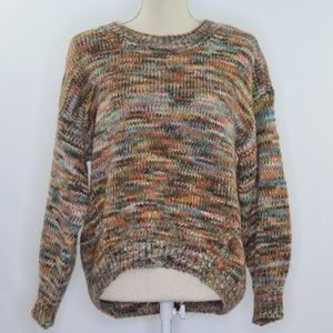 LOFT Multi Colored Knitted Hi Low Sweater